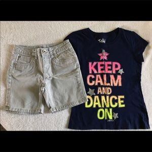 Justice Denim Shorts & Tee